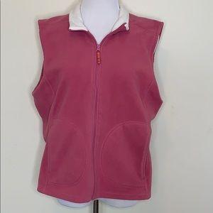 Van Heusen Berry Pink Fleece Vest (J27)